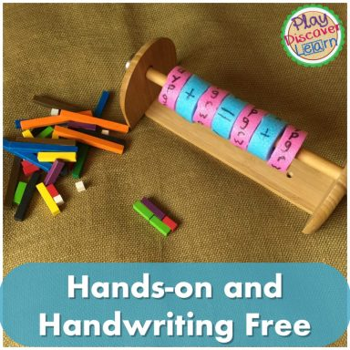 Hands on activity that involves no writing