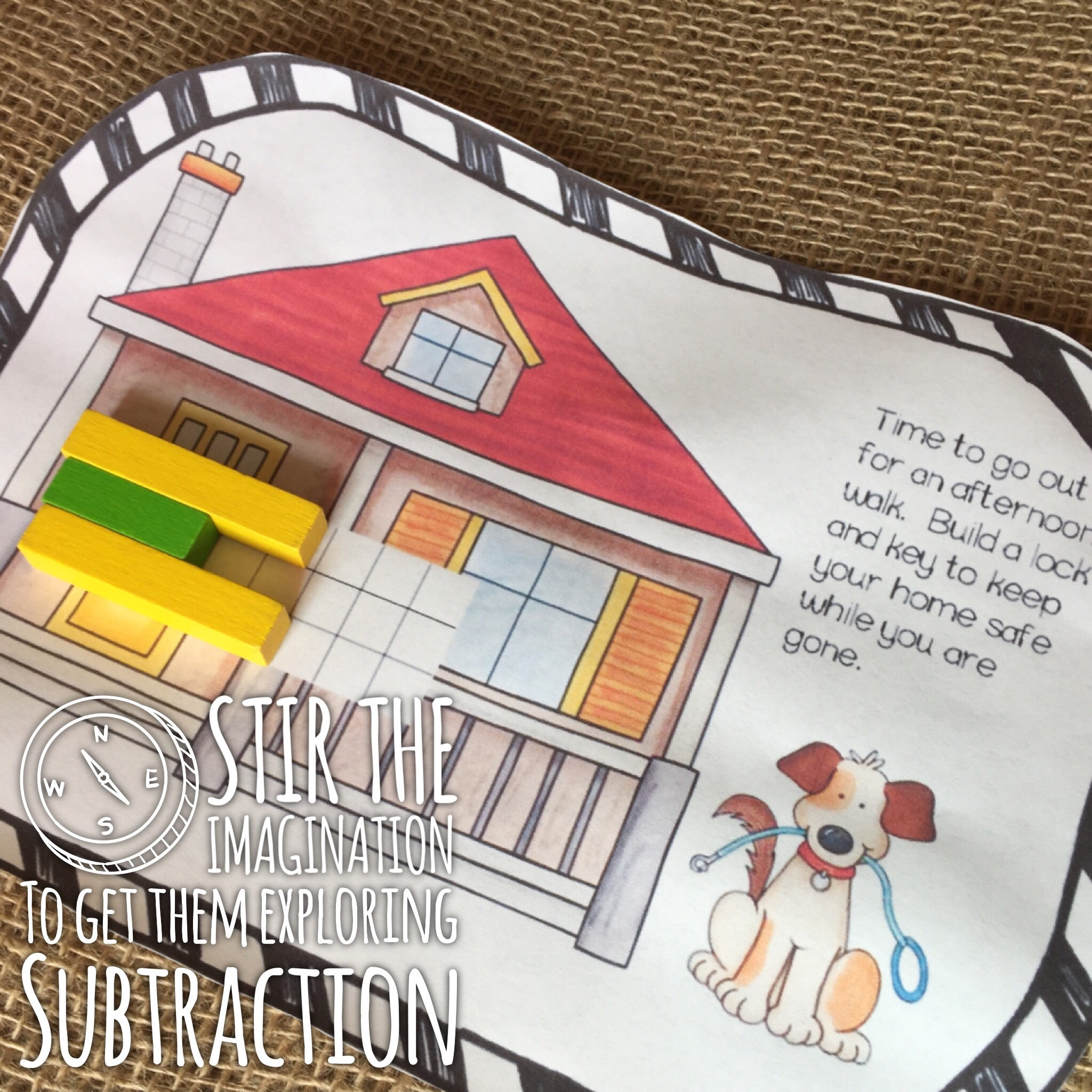 lock and key subtraction key activity