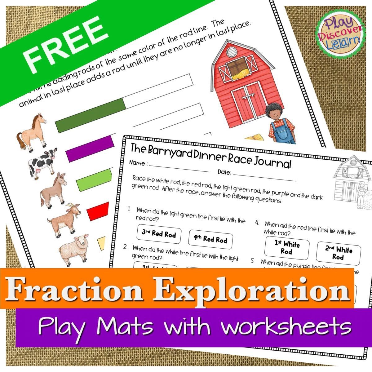fraction math journals and activities
