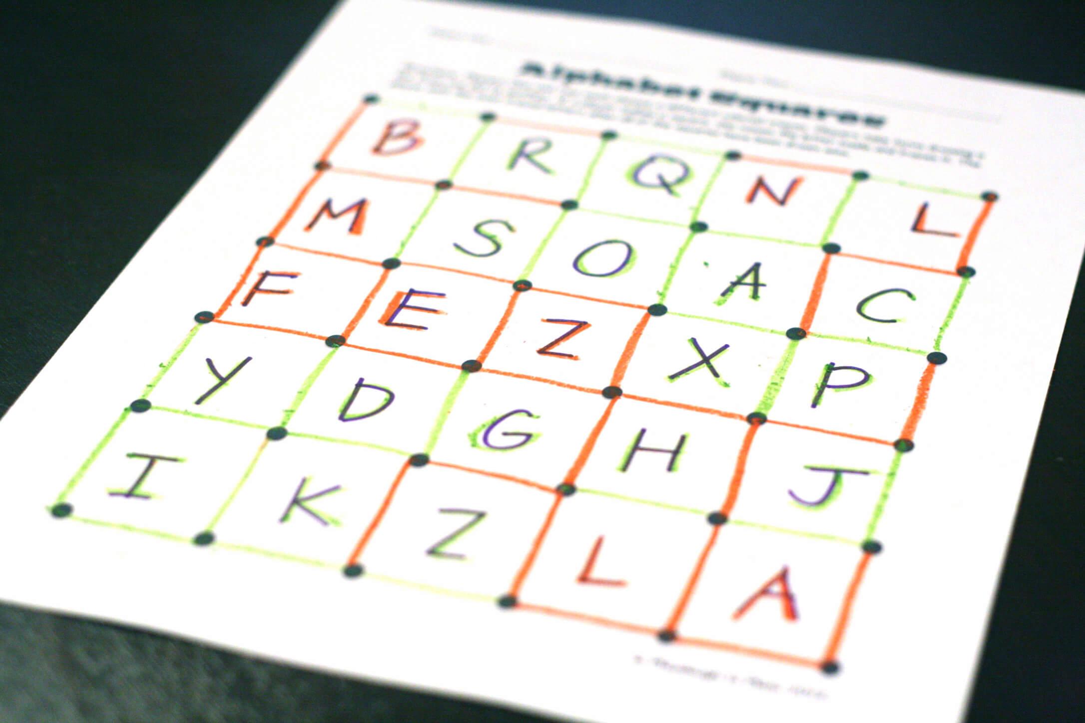 Sight Word Game Magic Squares
