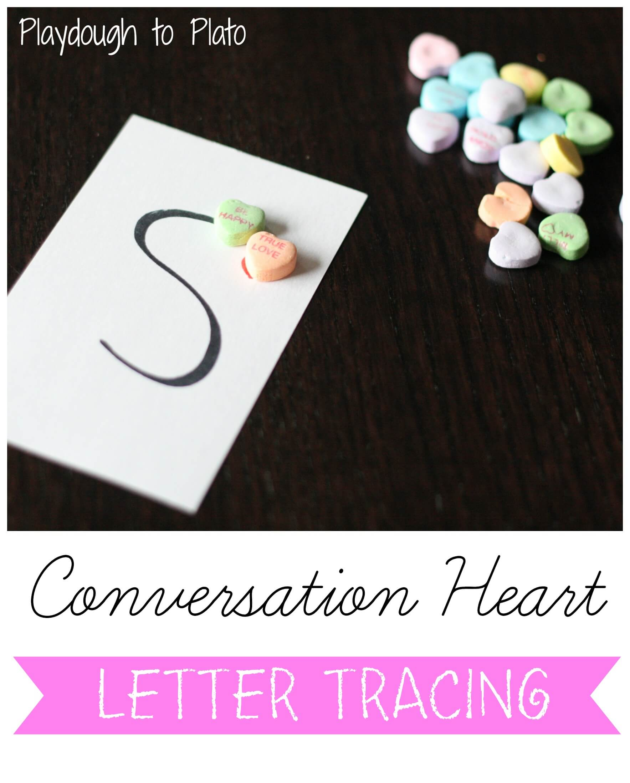 Fine Motor Skills Conversation Heart Letter Tracing
