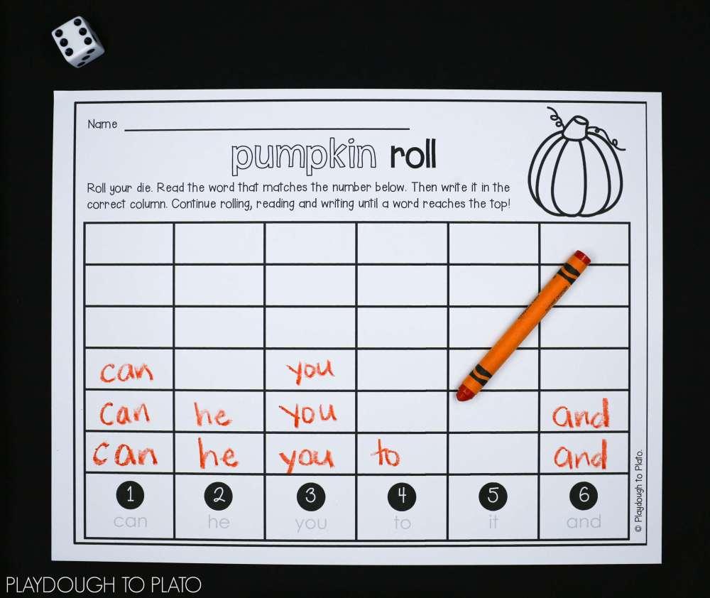medium resolution of First Grade Pumpkin Activities - Playdough To Plato