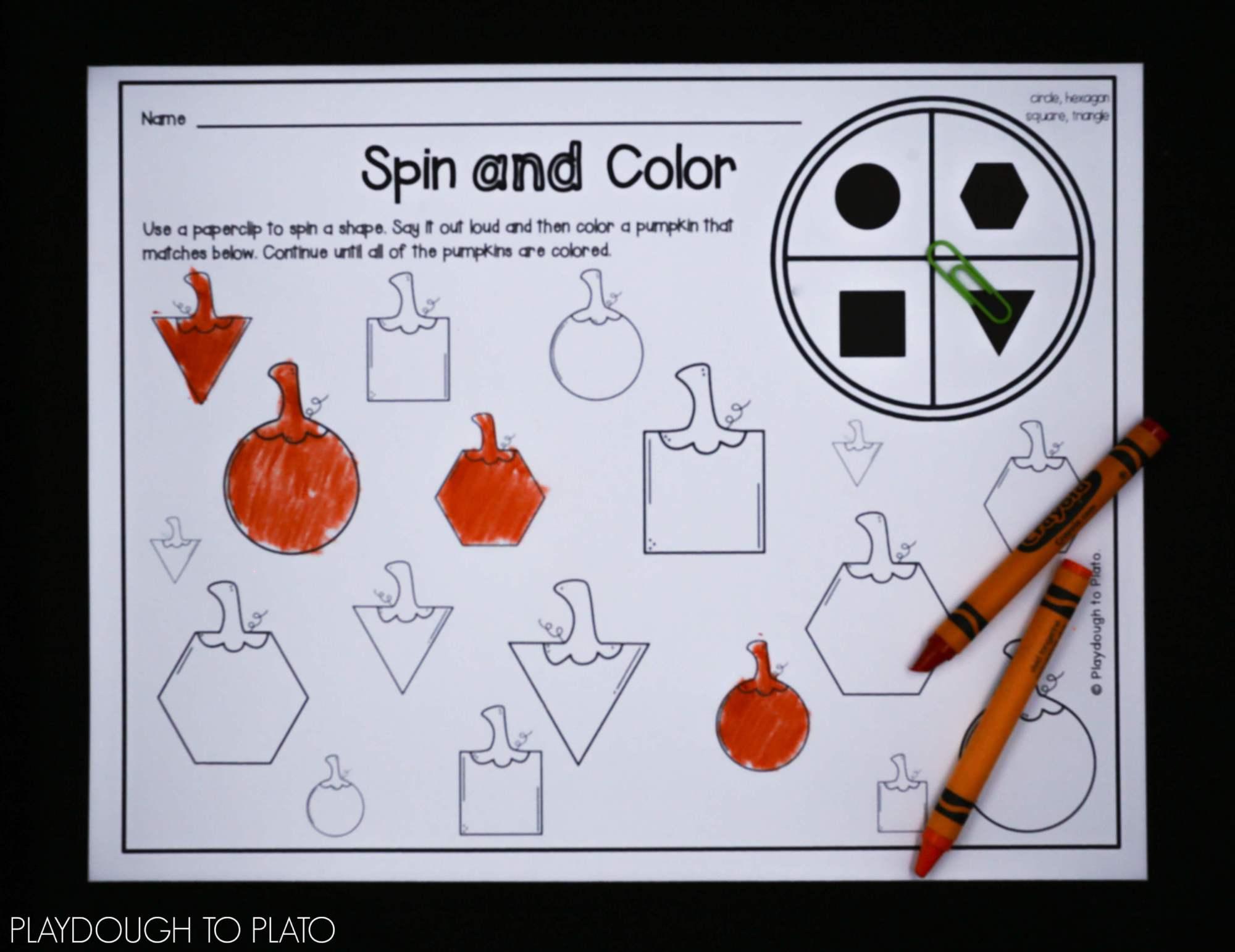 hight resolution of First Grade Pumpkin Activities - Playdough To Plato