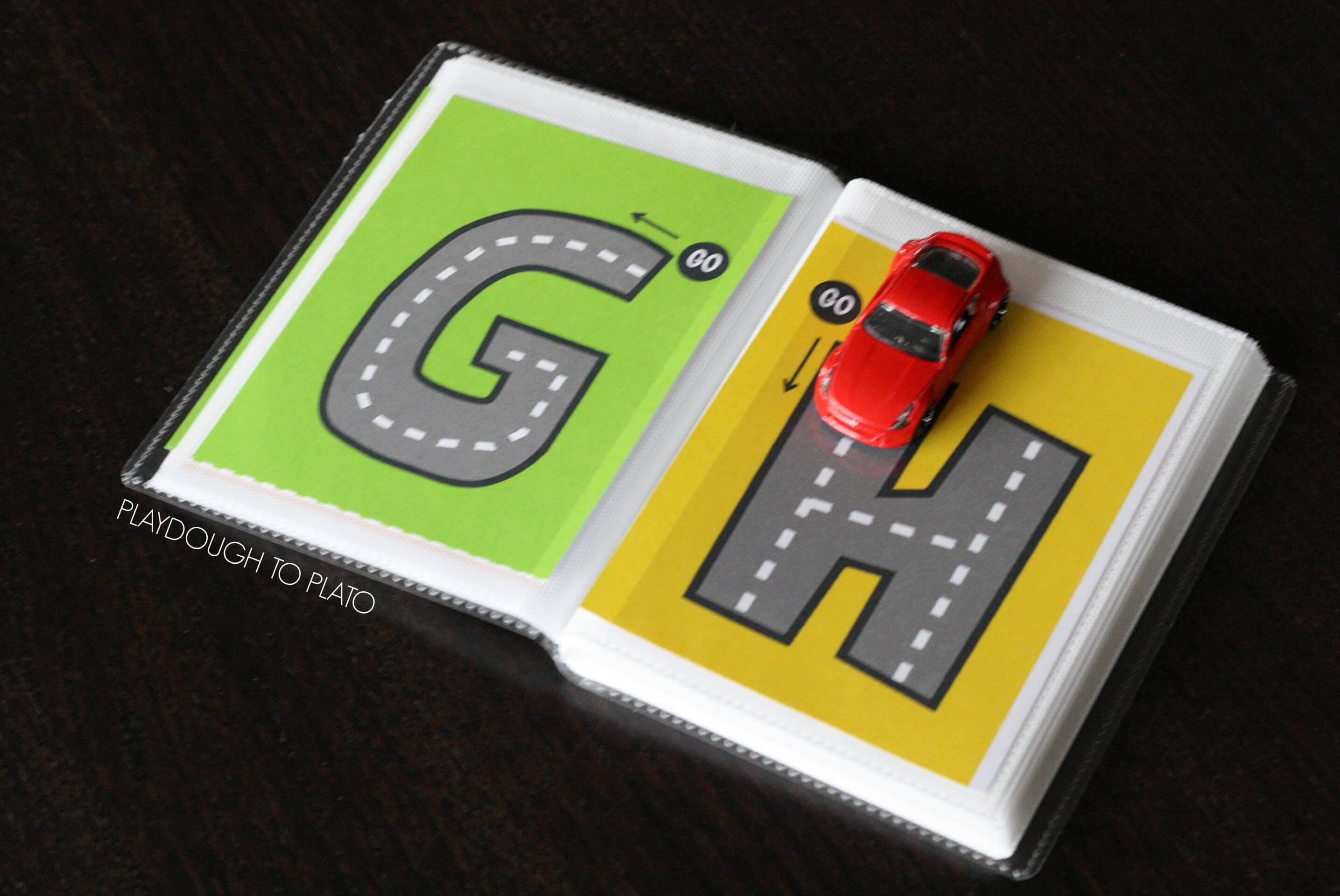 Free Letter Tracing Roads