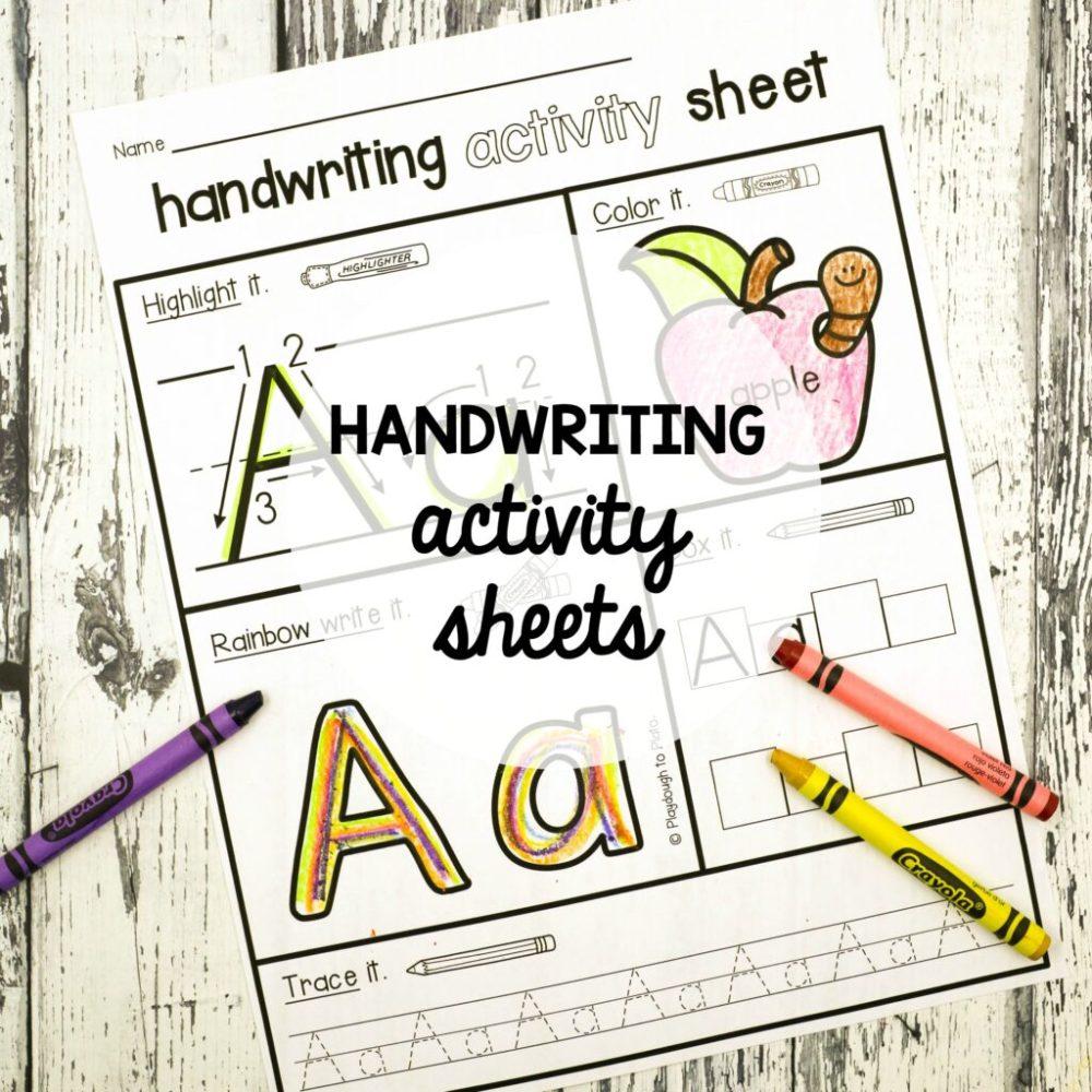 medium resolution of Handwriting Sheets - Playdough To Plato