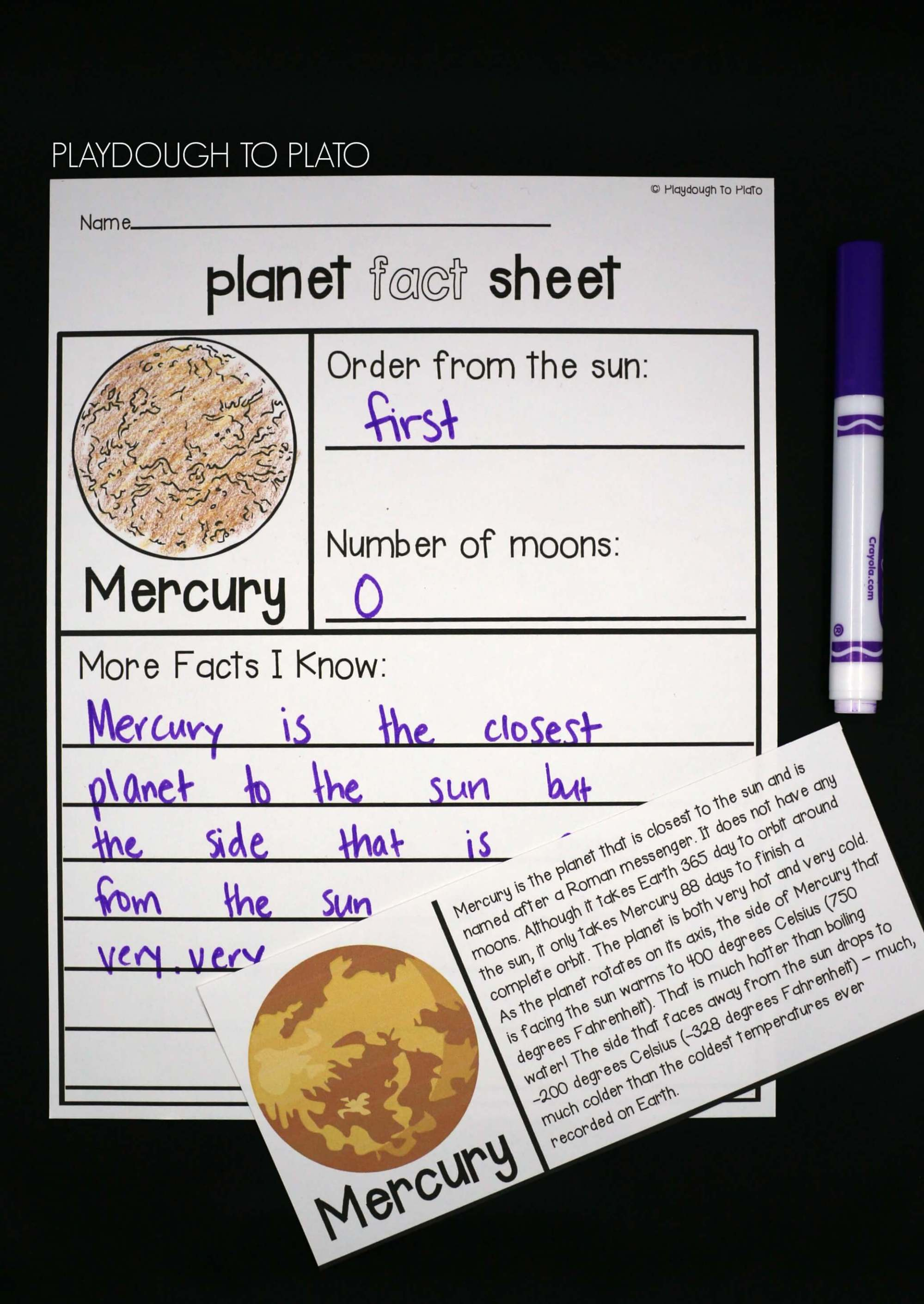 hight resolution of study each planet in depth with ready to read fact cards and planet fact sheets