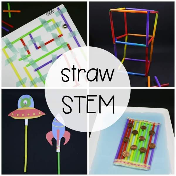 Stem Challenge Build With Straws - Playdough Plato