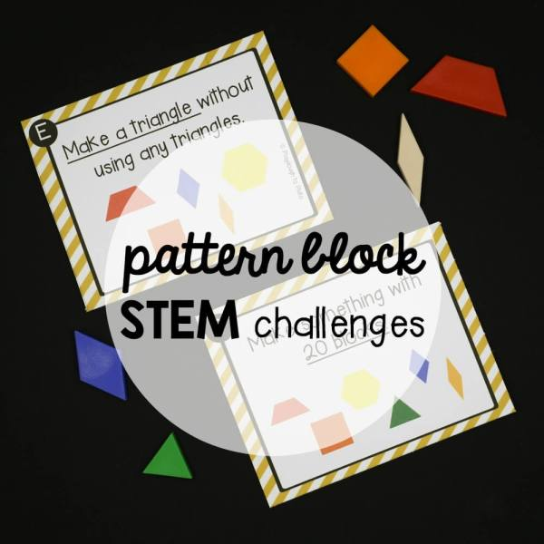 Stem Challenge Pattern Blocks - Playdough Plato