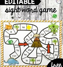 Dinosaur Sight Word Game - Playdough To Plato [ 2964 x 2476 Pixel ]