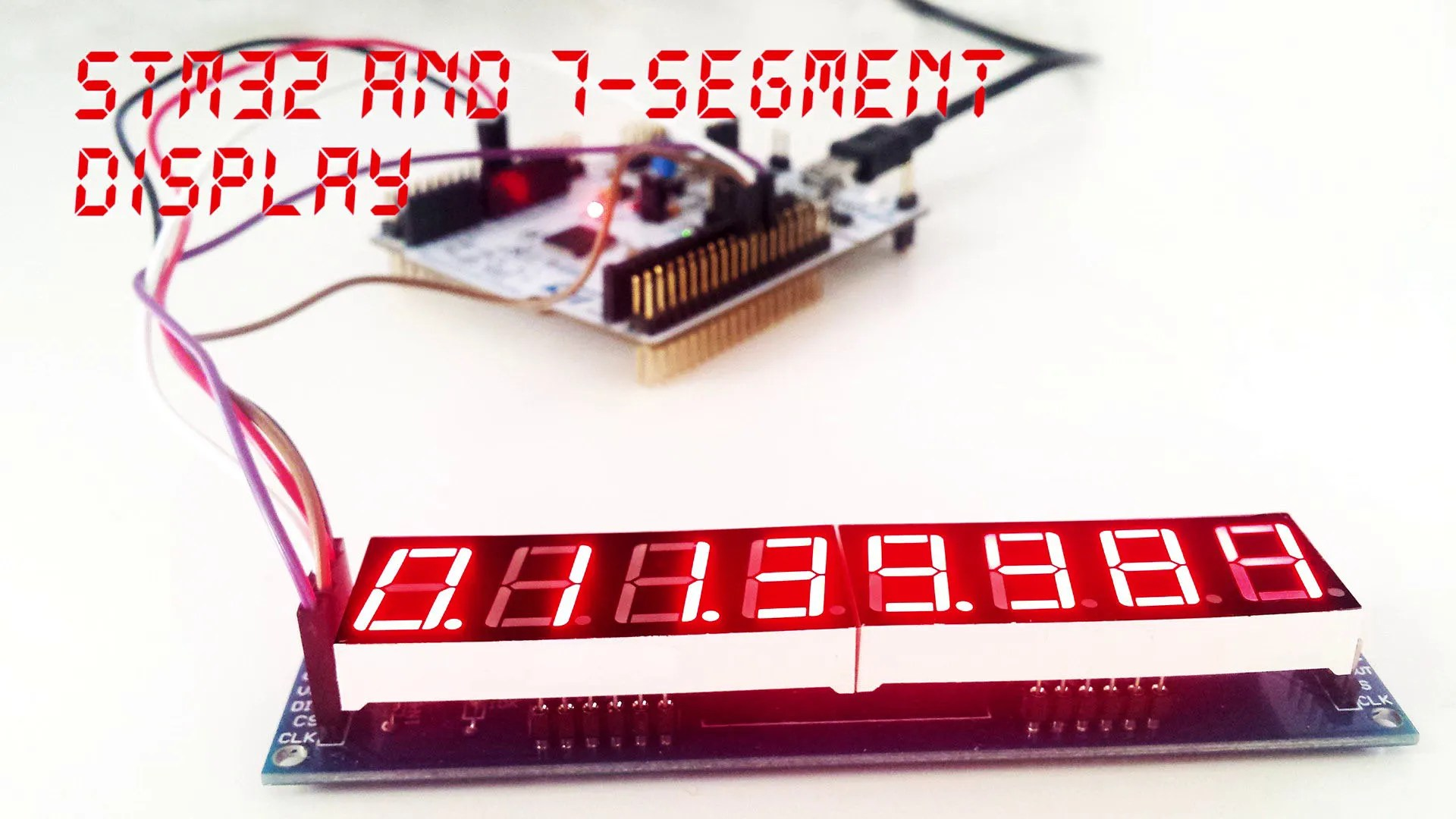 7-segment display and STM32 using ChibiOS