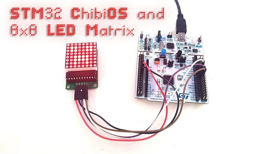 STM32, ChibiOS and 8x8 LED Matrix
