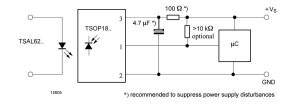 TSOP1838 application circuit