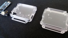 The two parts of the plastic box