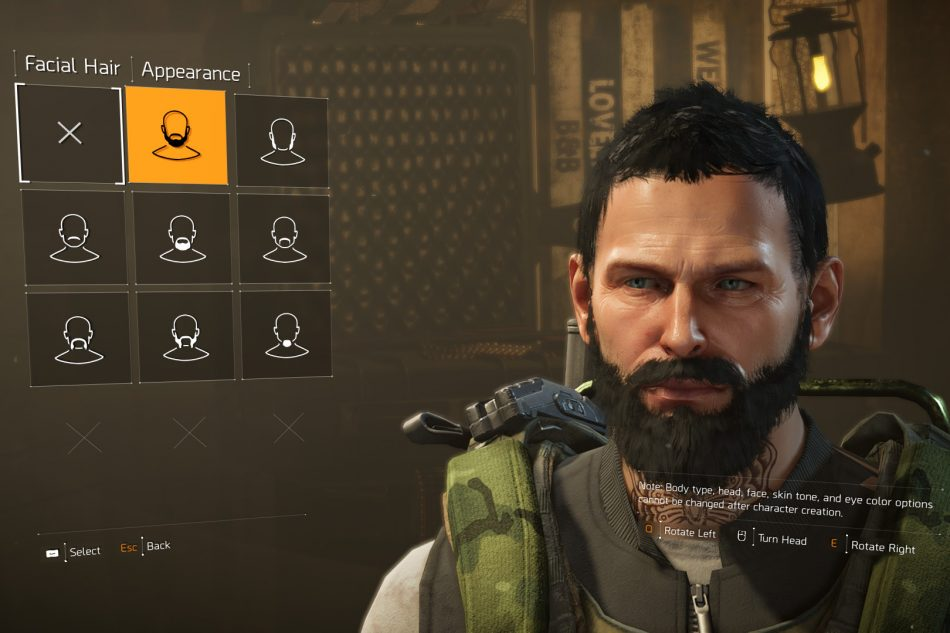 The Division 2 caracter