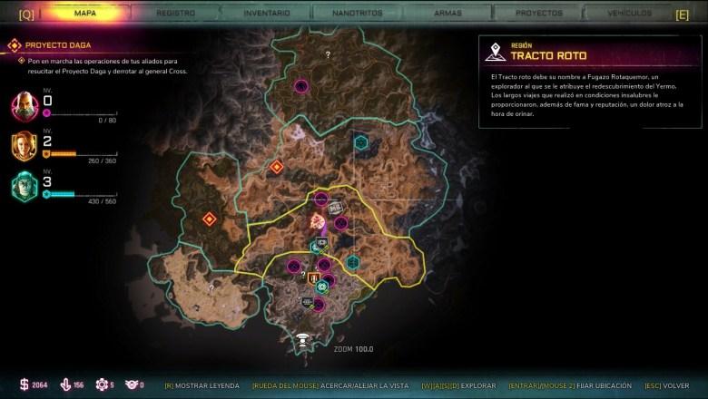 rage 2 mapa