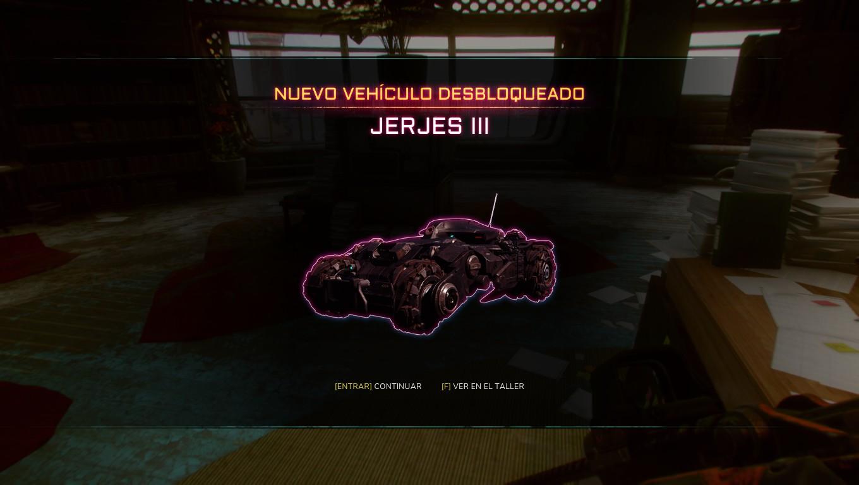 rage 2 vehículo