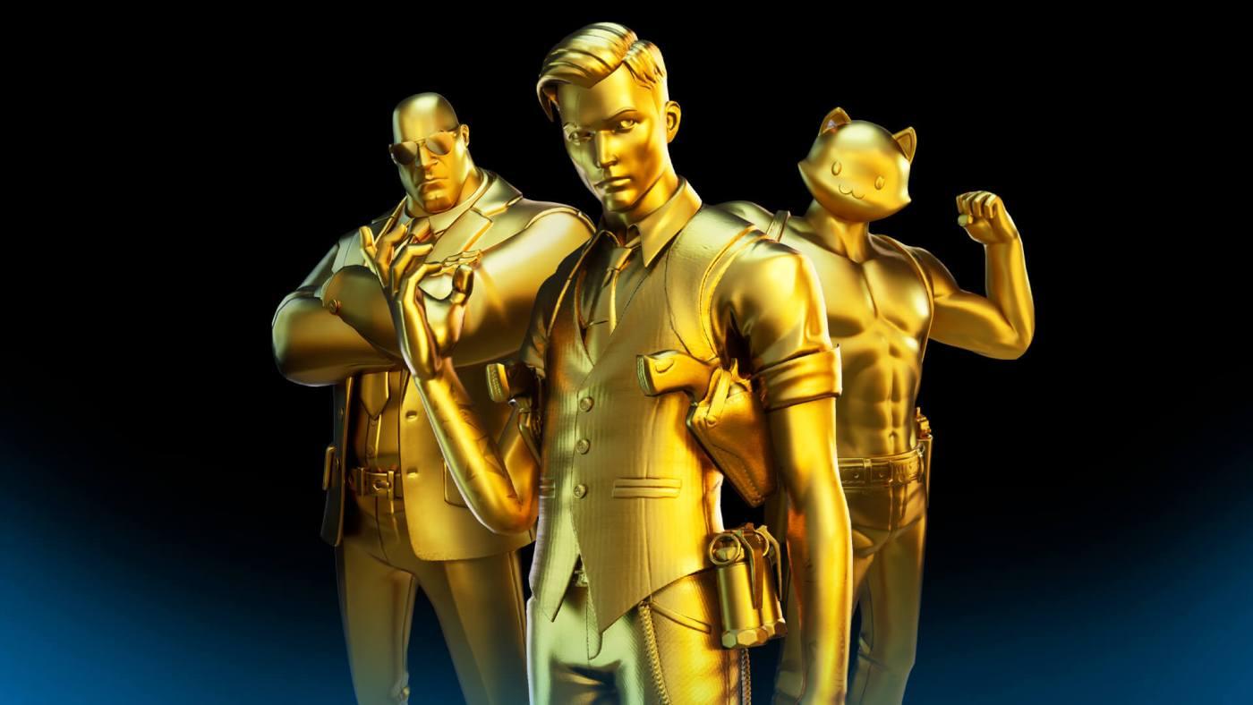fortnite skins dorados