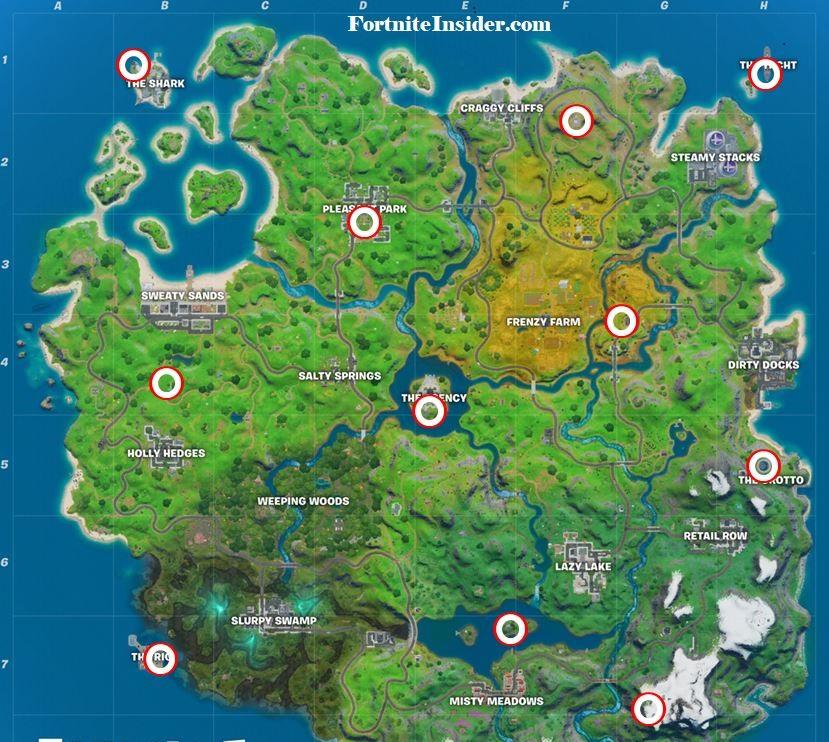 ubicaciones de helicoptero desafíos de Midas semana 10