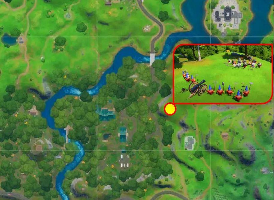 Fortnite-ubicación de gnomos y osos