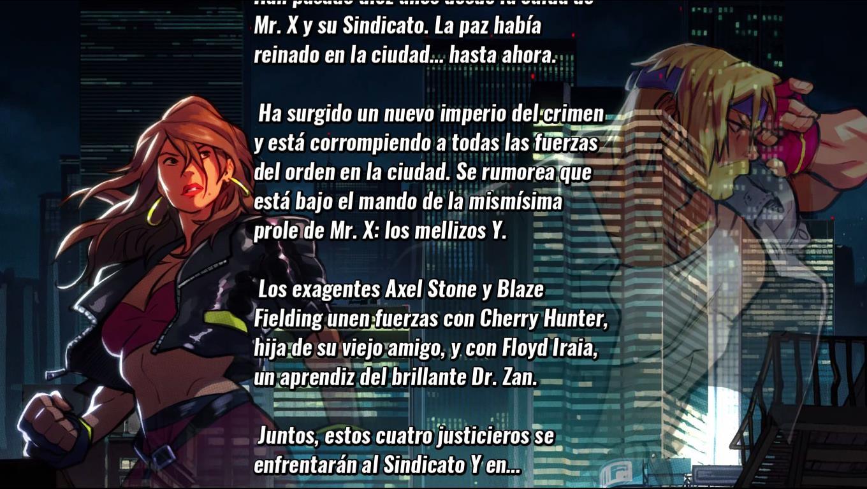 Street of Rage 4 historia