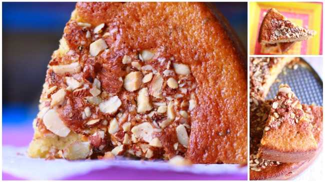 Lemon Mint Cake with Almonds 4