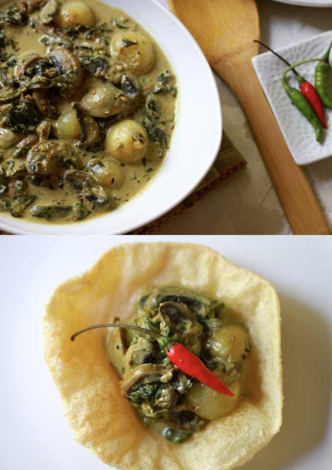 Creamy Spinach Mushroom 2