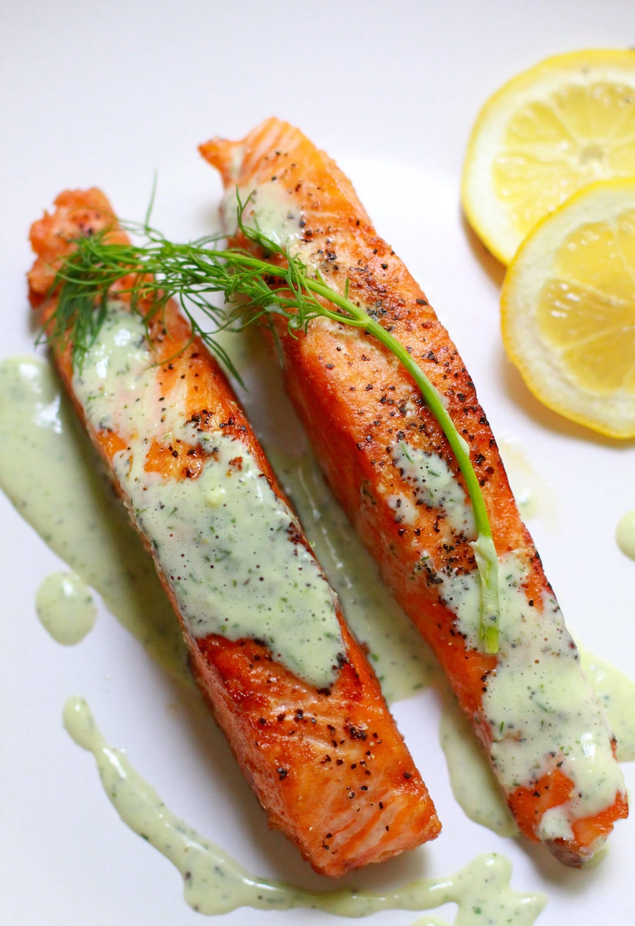 Salmon with Creamy Dill Sauce | Playful Cooking