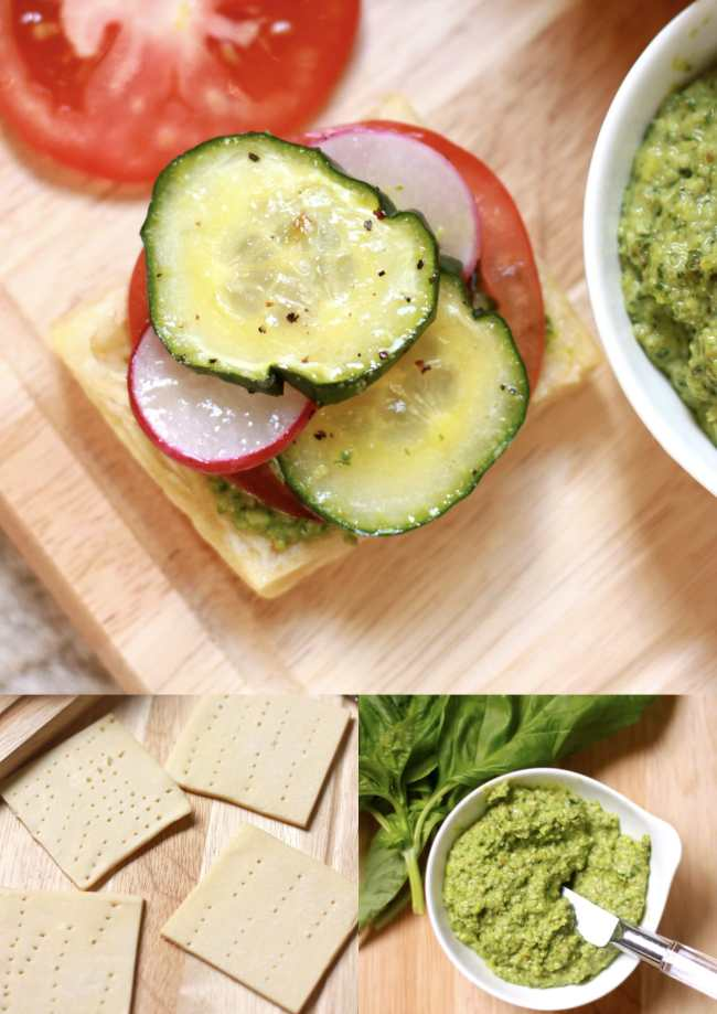 Vegetable Tartlets with Pesto Sauce 3