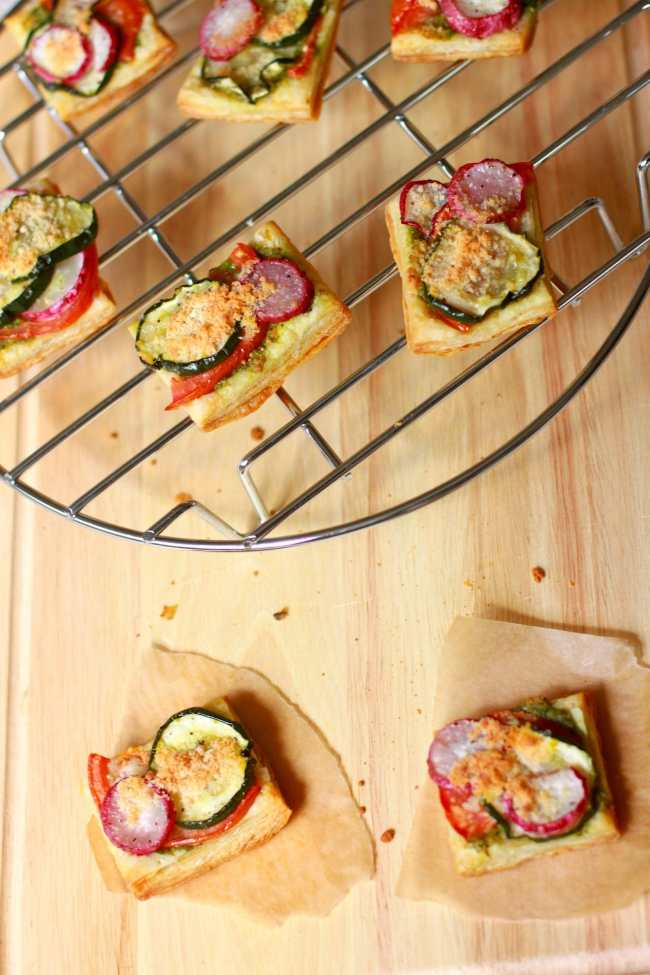 Vegetable Tartlets with Pesto Sauce 2