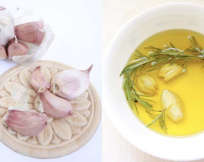 Rosemary and Garlic Infused Olive Oil 2