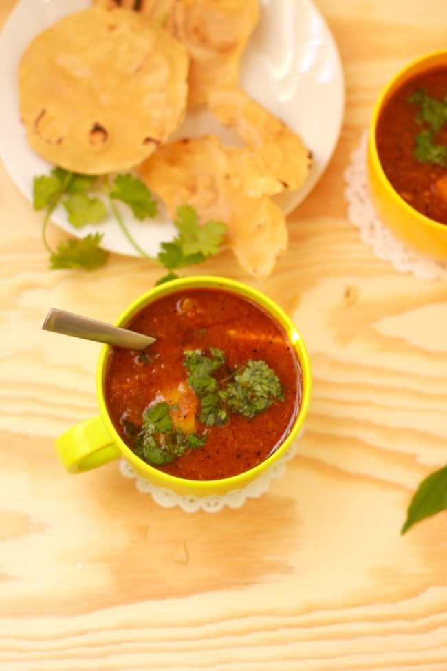 Rasam with Pear (Tangy Tomato based Indian Soup) - Guest Post for Divya @ Flavour Fiesta! 4