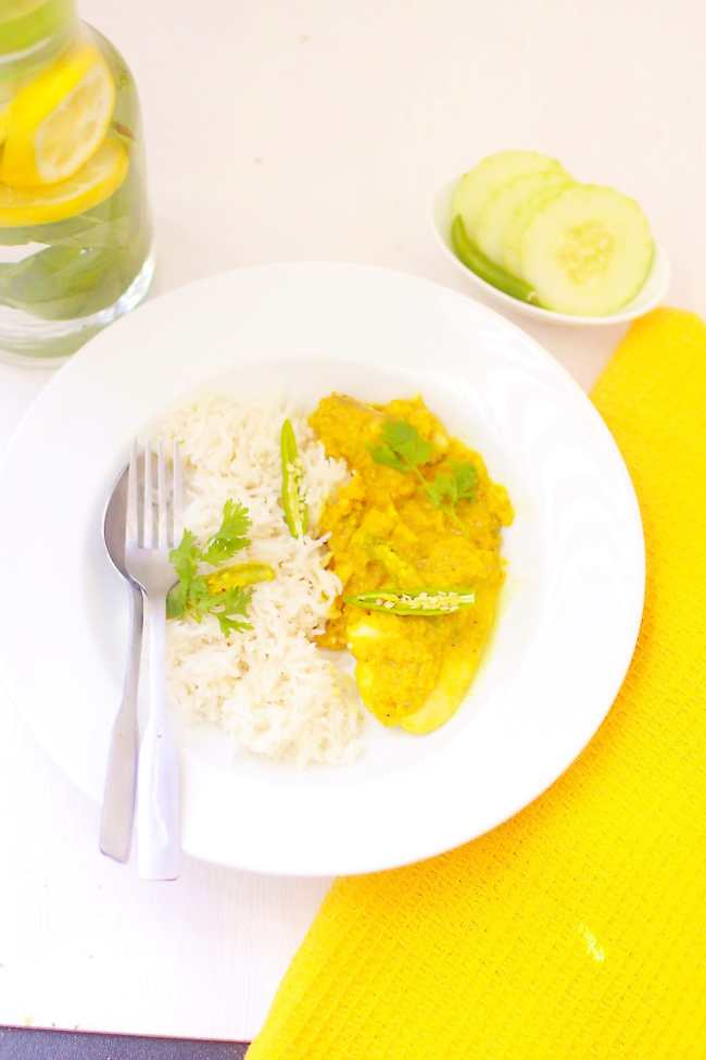 Shorshe Maach / Tilapia in Mustard Sauce - Guest Post for Vijitha @ Spices N Aroma 7