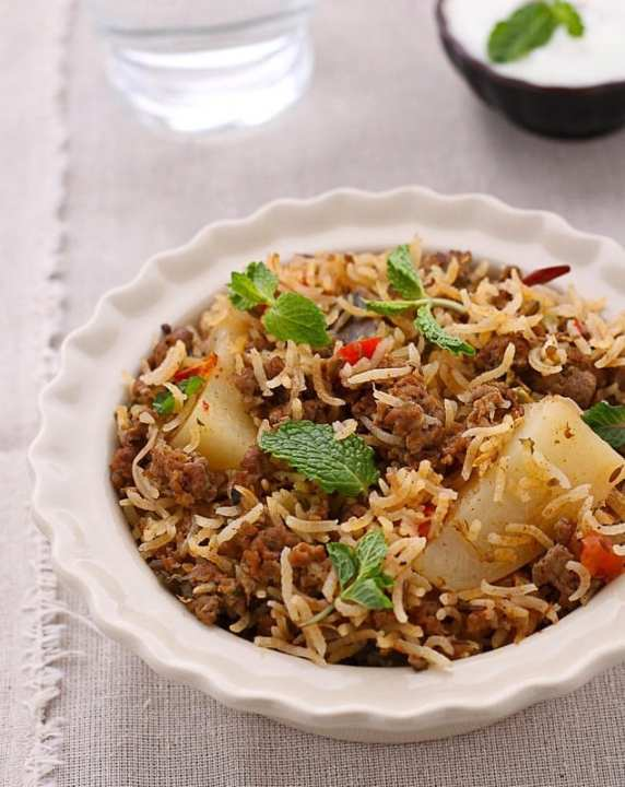 Keema Pulao - Guest Post by Tanvi @ Sinfully Spicy 2
