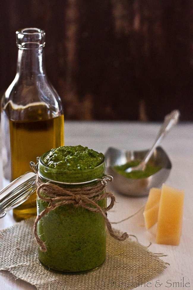 Spinach Pesto with Roasted Garlic 4