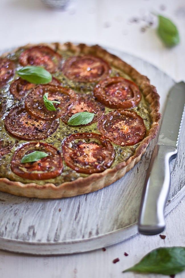 Tomato Tart with Basil and Paneer 1