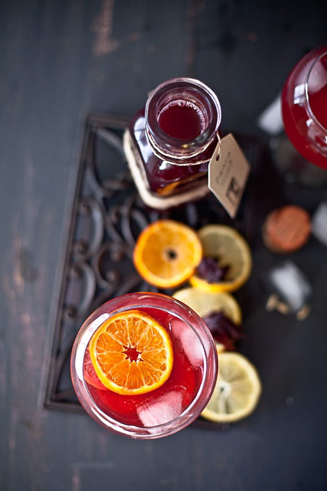 Vodka with hibiscus and citrus @ Sunshine and Smile