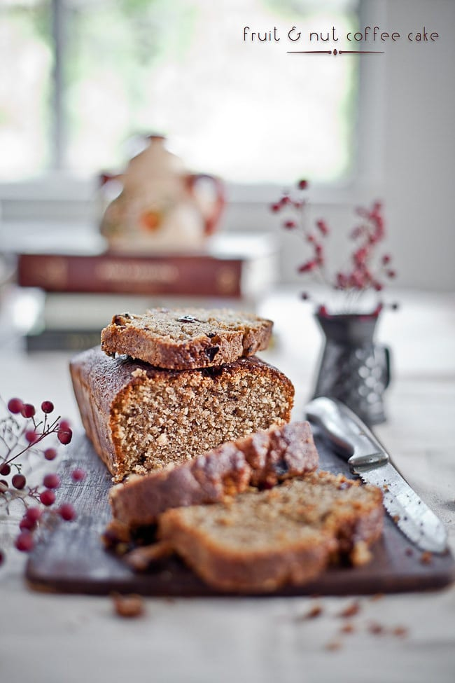 fruit and nut coffee cake @ Playful Cooking