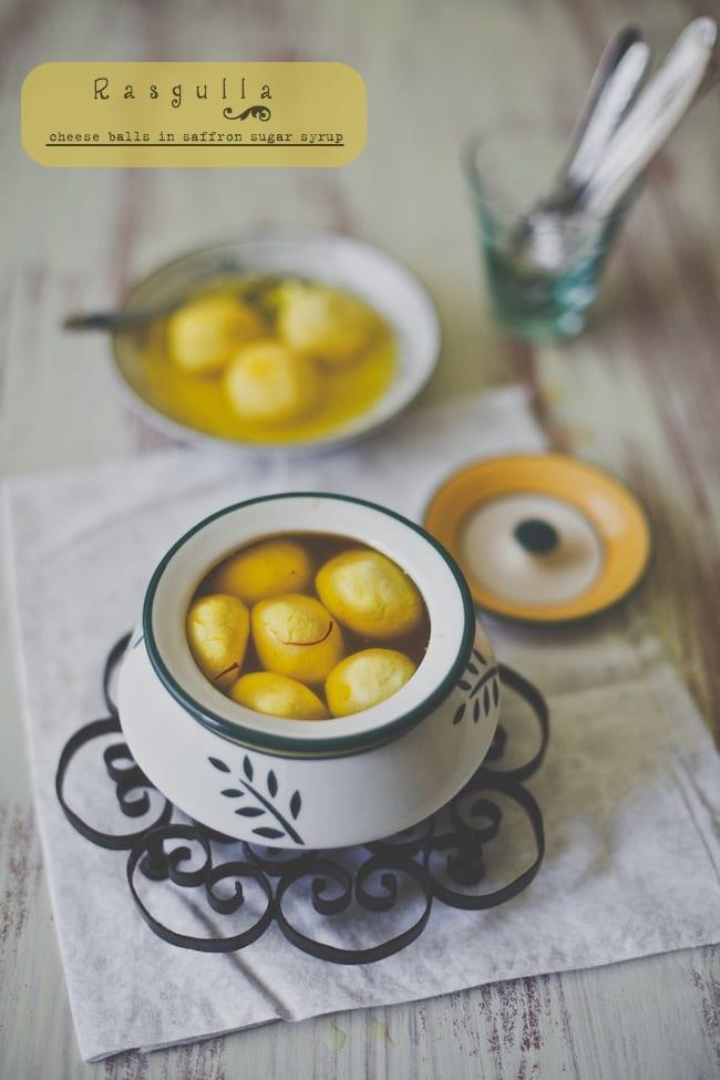 Rasgulla (cheese balls in saffron sugar syrup) | Playful Cooking