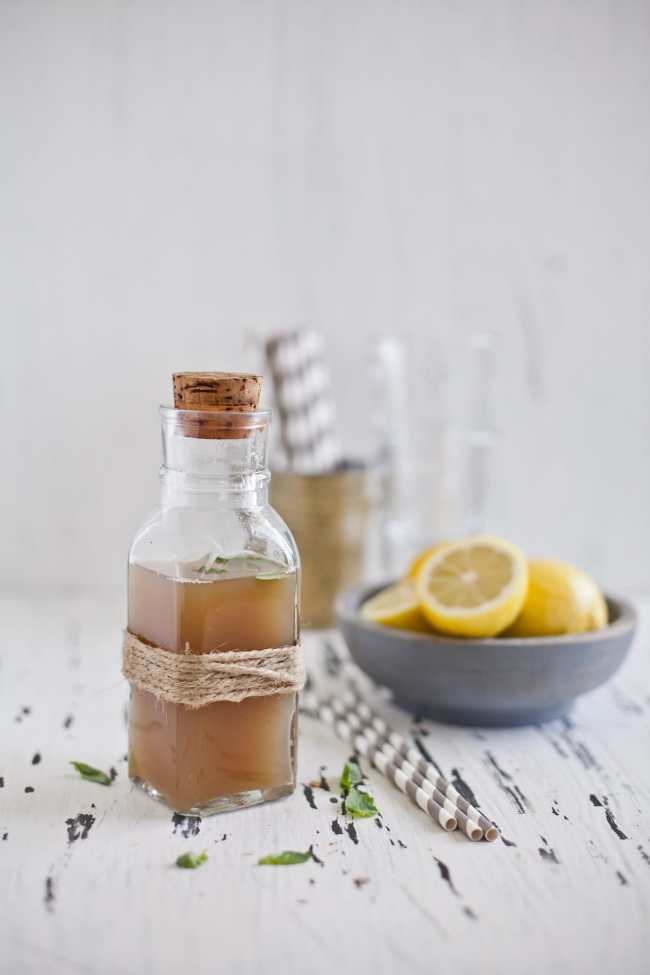 Ginger Lemongrass Basil Syrup | Playful Cooking