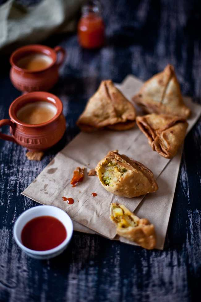 Potatoes and Peas Samosa | Playful Cooking