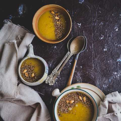 Pumpkin Soup With Toasted Quinoa | Playful Cooking #soup #pumpkin #quinoa