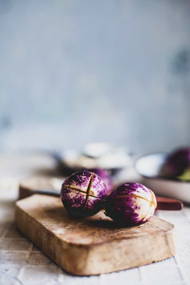 Baingan Ka Salan (Baby Eggplant In Coconut Cashew Gravy)   Playful Cooking