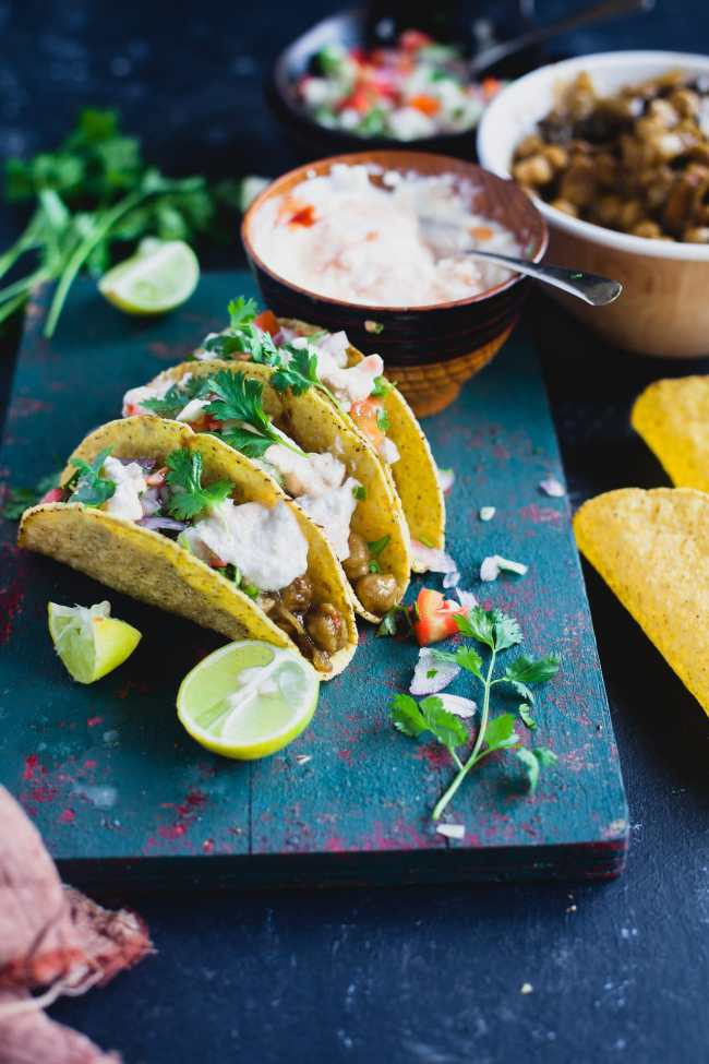 Chole Taco (Chickpea Stew Taco)| Playful Cooking