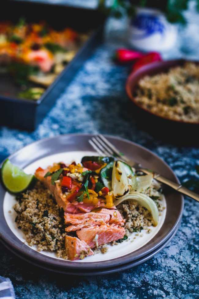 Chili Lime Baked Salmon | Playful Cooking