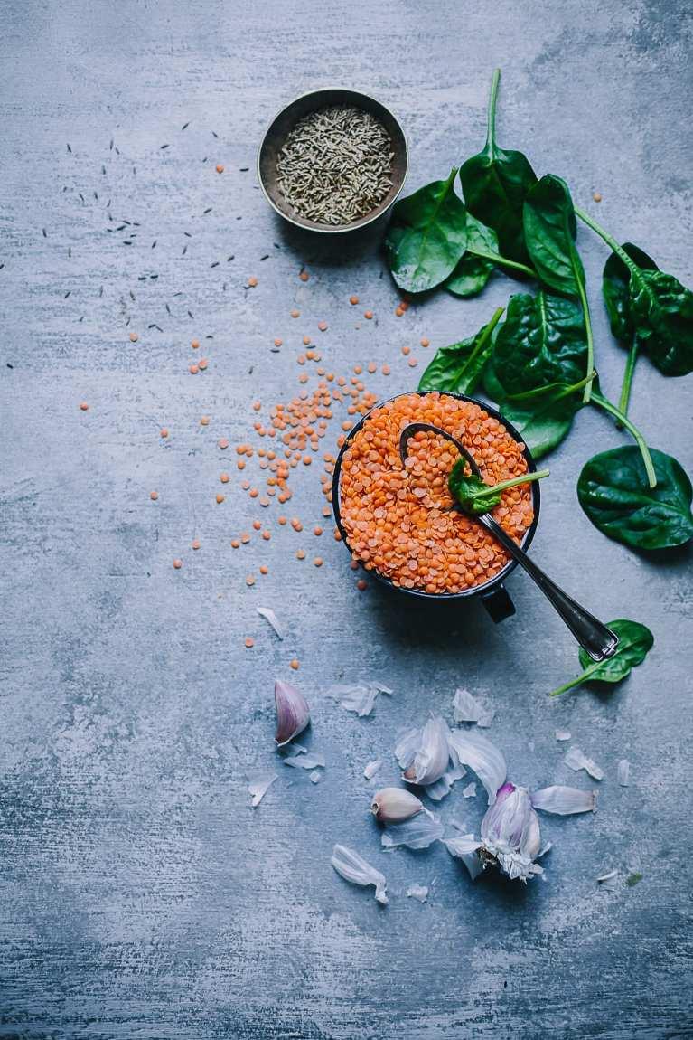 Masoor Palak Daal (Red Lentil Spinach Stew) 4