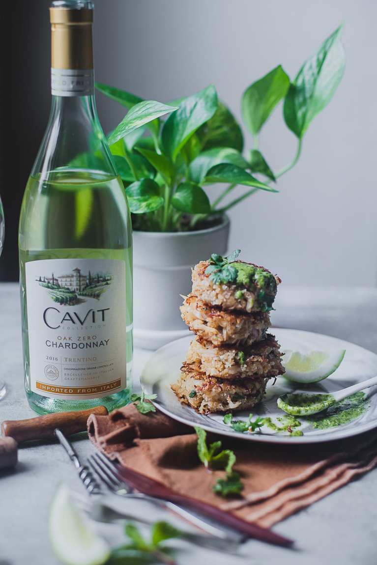 Crab Cakes with Chimichurri Sauce 4