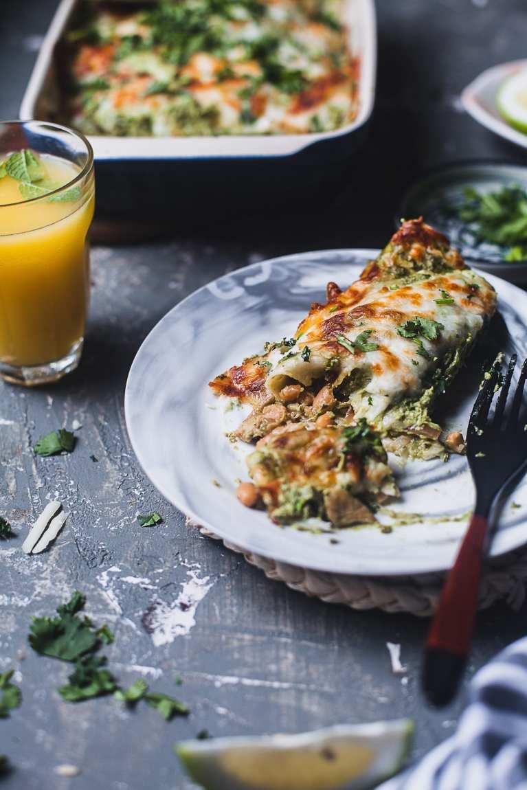 Green Chutney Chicken Enchilada #enchilada #chicken #meal #easy