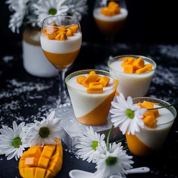 Mango Panna Cotta | Playful Cooking #mango #dessert #sweets #pannacotta #cream #cream