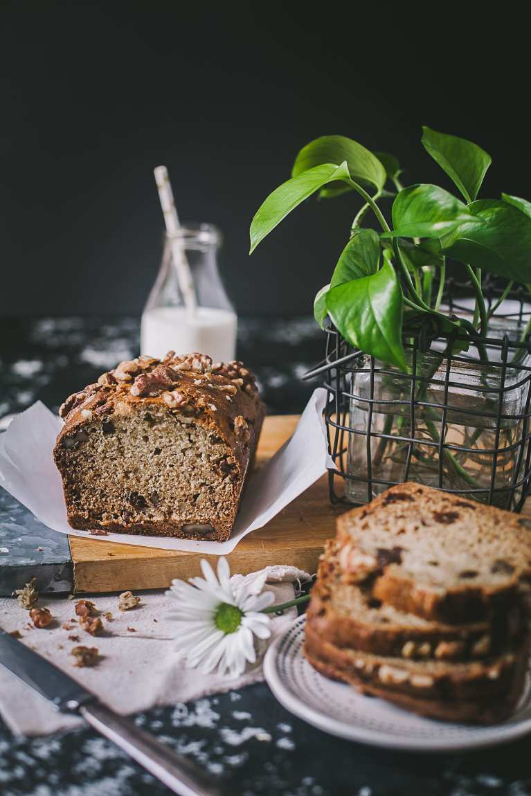 One Bowl Banana Nut Bread - Needs no special gadget and super easy to bake! #cake #banana #bread #baking #playfulCooking