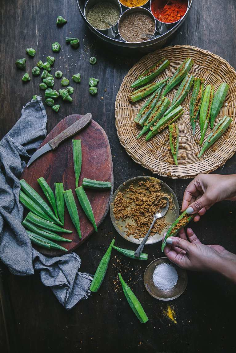 FOOD PHOTOGRAPHY Spices used in the making of Bharwa Masala Bhindi (Spice Stuffed Okra) | Playful Cooking #okra #bhindi #playfulcooking #foodphtography